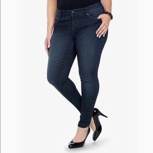 Torrid Stiletto Ankle Snap Skinny Jean, Dark Wash